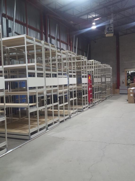 AFTER THE INSTALLATION OF MOBILE TRACK SHELVING